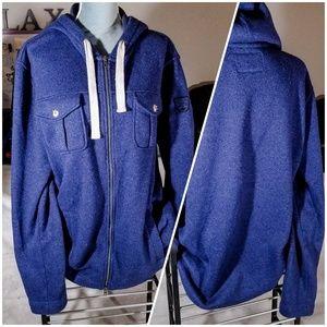 Roots Canada Warm Full Zip-Up Sweatshirt + Hoodie